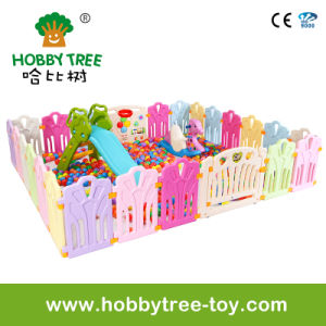 2017 Cute Kids Indoor Plastic Playard with Game Fence (HBS17074A)