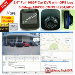 "Cheap Private 2.0"" Car DVR with HD1080p Camera, 5.0mega CMOS, Builit-in G-Sensor, with Night Vision, Digital Video Recorder DVR-2001 pictures & photos"