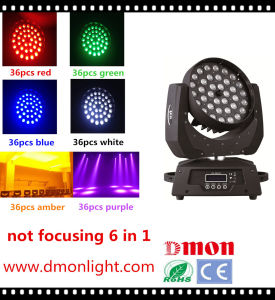 36*10W LED Moving Head Light 6 in 1 Rgbeyp LED Stage Lighting