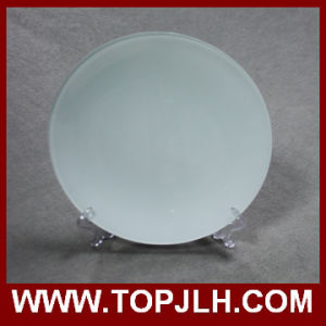 8 Inch 3D Moon Glazed Glass Plate Sublimation