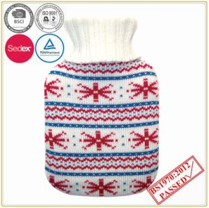 christmas Design Knitted Hot Water Bottle Cover pictures & photos