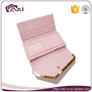 Pink Color Women Wallet PU Leather Coin Purse Envelope Wallet with Card Holder pictures & photos