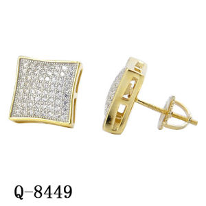 New Design Silver Diamond Earrings Hip Hop Jewelry Wholesale pictures & photos