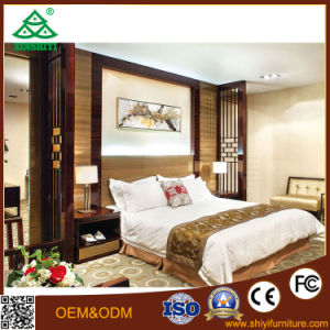 Hilton Hotel Customized Brownish Red Walnut Hotel Bedroom Furniture