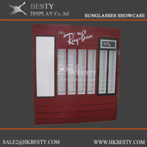 Customized Wall Cabinet Showcase for Eyeglasses Store