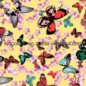 Stretch Lycra Butterfly Aop 80% Nylon 20%Spandex Bikini Fabric pictures & photos