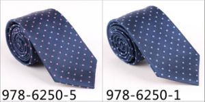 New Design Fashionable Novelty Silk/Polyester Woven Tie (6250-5) pictures & photos