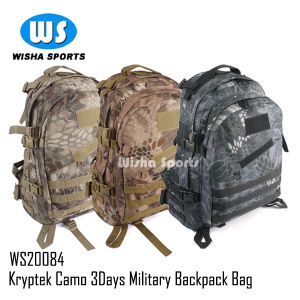 2014 Newest 35L Kreytek Camo 600d 3day Tactical Military Backpack