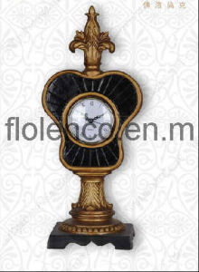 Polyresin Classical Table Clock (FL-393)