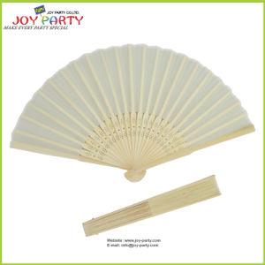 Ivory Cloth Hand Fan Promotion Gifts