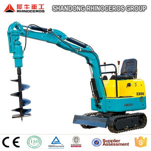Mini Excavator Digger Xn08 800kg 0.025 cbm with CE, Add Attachment Hammer/Auger/Grabber/Narrow Bucket/Trailer/Tipper pictures & photos
