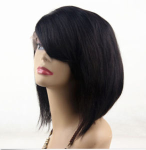 Beauty Bob Wig Virgin Brazilian Human Hair Full Lace Wig pictures & photos