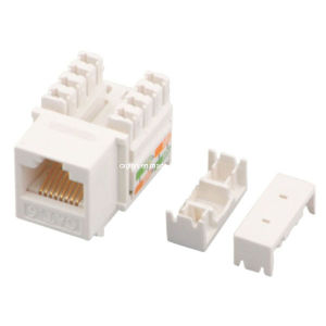RJ45 Cat. 6 Keystone Jack with Cable Tie pictures & photos