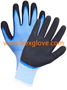 15 Gauge Anti- Microbial Liner, Nitrile Coating, Double Coated, Sandy Finish Work Glove pictures & photos