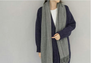 Solid Color Long Pashmina Scarf Acrylic Cashmere Scarf for Winter