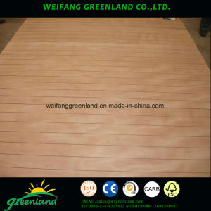 Painted High Grade Slotted Plywood /Grooved Plywood for Decoration pictures & photos
