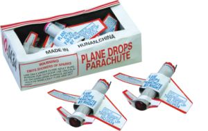 Plane Drops Parachuts Toys Fireworks for Children (0434)