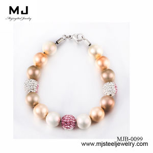 Attractive Stainless Steel Bead Bracelet for Ladies
