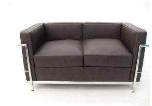 (SS-050) Commercial Furniture European Style PVC Office Sofa Set
