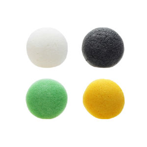 Factory 100% Natural Half Ball Charcoal Konjac Facial Sponge for Skin Care