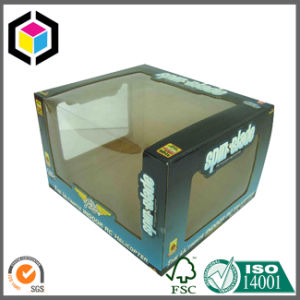 Clear Plastic Window Corrugated Carton Box for Toy Packaging