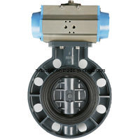 PVC Butterfly Valve for DIN ANSI JIS Standard (Level and Gear) pictures & photos