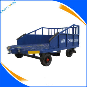Aviation Ground Support Equipments Semi-Trailer Baggage Dolly pictures & photos