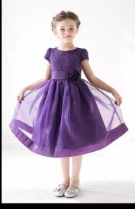 Hot Sale High Quality One Shoulder Backless Short Chiffon Skirt Party Dresses for Girls 10 Years (MN1811)