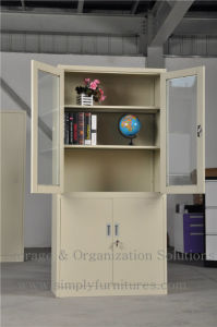Metal Filing Storage Cabinet with 2 Shelf pictures & photos
