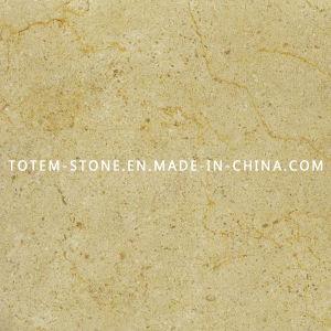Polished Crema Marfil Tumbled Marble Tile Backsplash For Kitchen Vanity
