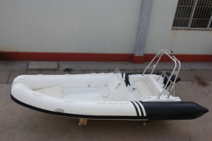 Rigid Hull Fiberglass Inflatable Boat/Rib Boat/Inflatable Fishing Boat (RIB580)