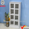 Living Room Vintage Rustic White Wood Glass Display Cabinet pictures & photos