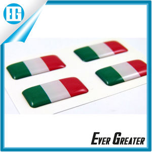 Brazilian Flags Three Color Dome Epoxy Rectangular Sticker pictures & photos