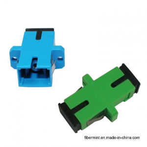 Sc Simplex Fiber Optic Adaptor with Flange