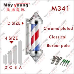 Factory Price Ce RoHS Hair Salon Equipment Rotating Barber Sign Pole pictures & photos