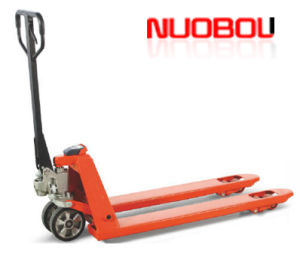 2015 New Design Hot Selling Hydraulic Hand Pallet Truck with Weight Indication for Selling