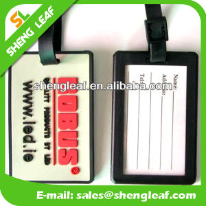 Hot Sale Custom Logo PVC Rubber Luggage Tag (SLF-LT034)