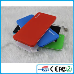 2015 China Polymer Battery 5000mAh Card Power Bank
