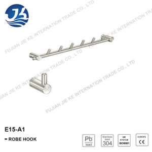 304 Stainless Steel Straight Clothes Robe Hook (E15-A1)