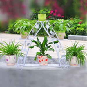 Wholesale White Iron Flower Pot Holder pictures & photos