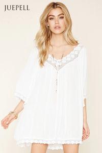 Boho Me Crochet-Trimmed Dress
