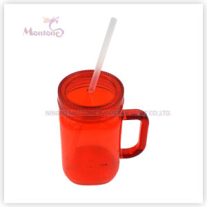 Promotional BPA Free Mason Jar Mug with Straw & Handle pictures & photos