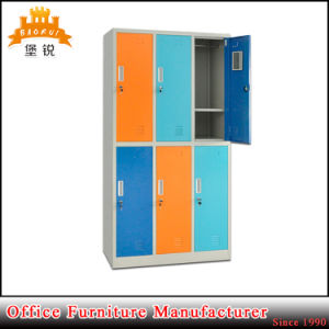 Factory Supply Knock Down Flat Packing Steel 6 Door Locker