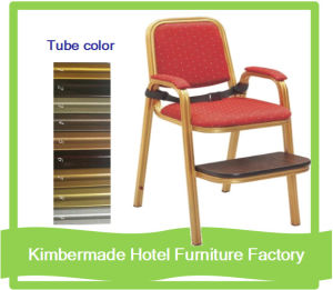 (AC12080-90) Hotel Furniture for Restaurant Dining Metal Banquet Chair with Armrest, Steel Chair in Banquet Furniture