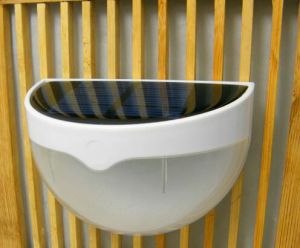 Solar LED Wall Mounted Fence Lamp for Garden Wall Night pictures & photos