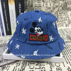 b3eb7e898 Baby Lovely Foldable Cartoon Embroidery Kids Bucket Hats Caps