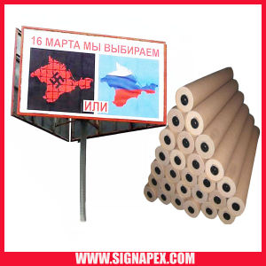 High Quality Laminated Flex PVC Frontlit Sf550 500d*500d 9*9 440GSM pictures & photos