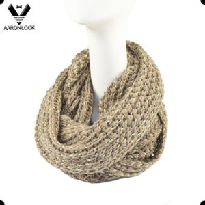 Latest Trendy Knitted Neck Warmer with Shiny Tape Yarn