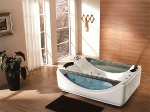 High Quality Simple Bathtub with Shower (M-2046) pictures & photos