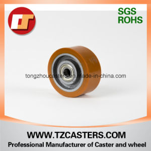 PU Wheel with Cast Iron Center 125*50 pictures & photos